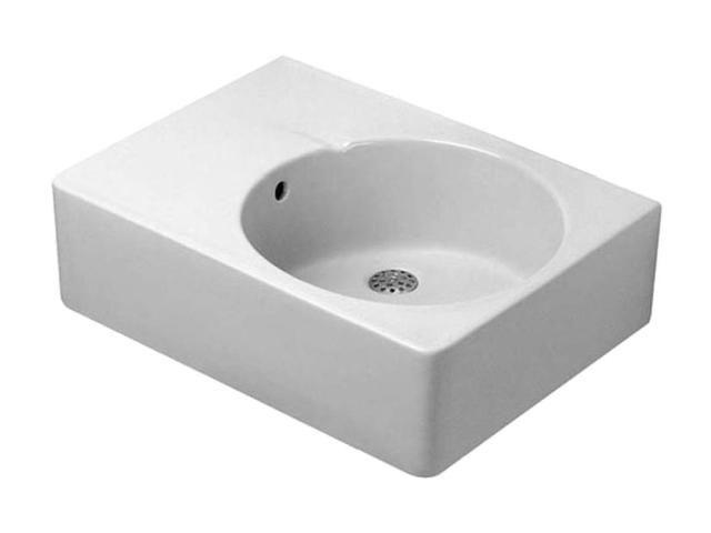 Duravit Scola Waschtisch B:61,5xT:46cm 1 Hahnloch mittig mit Überlauf Becken rechts weiß 0685600011