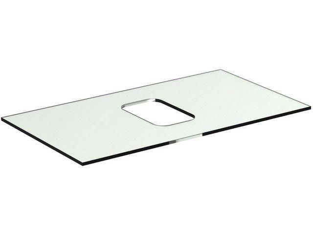 Ideal Standard TONIC II Glaskonsole für Schale symmetrisch 806x444x10mm weiß R4331SA