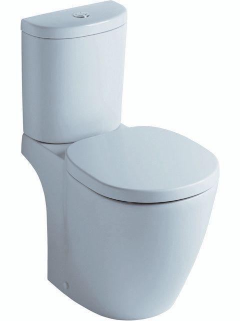 Ideal Standard CONNECT Tiefspül-Stand-WC für Aufsatzspülkasten Abgang außen waagerecht L:66xB:36xH:40cm weiß mit IdealPlus E8233MA