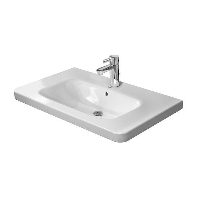 Duravit DuraStyle Möbelwaschtisch B:80xT:48cm ohne Hahnloch mit Überlauf weiß 2320800060