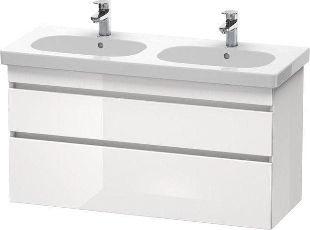 Duravit DuraStyle Waschtischunterschrank wandhängend B:115xH:61xT:45,3cm 2 Schubkästen weiß matt, basalt matt DS648601843