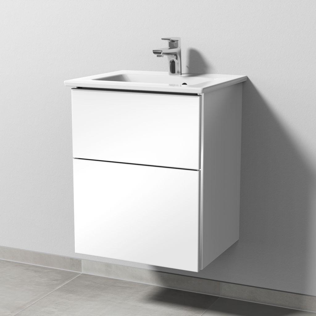 Sanipa 3way Set Keramik-Waschtisch (BS320) H:59,1xB:46,5xL:40,1cm Schwarz-Matt BS32008