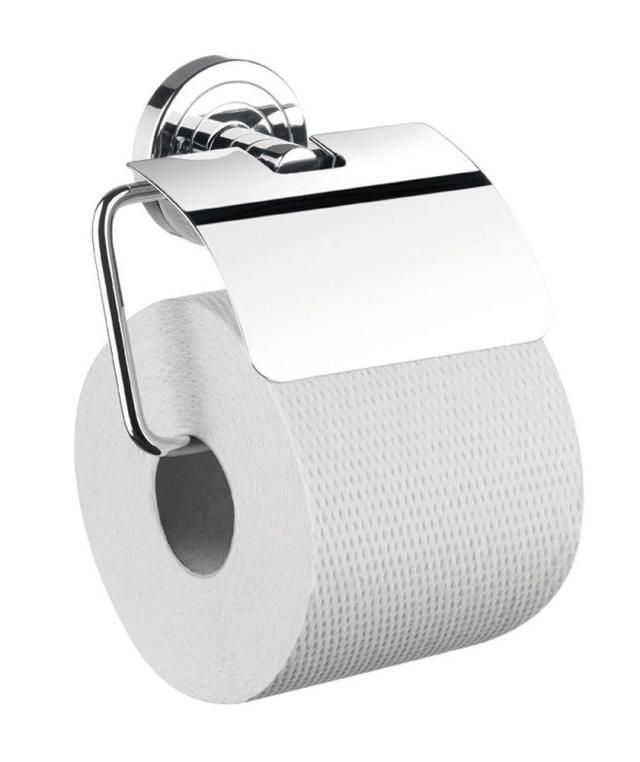 Emco Polo Papierhalter 070000100, mit Bügel und Deckel, chrom