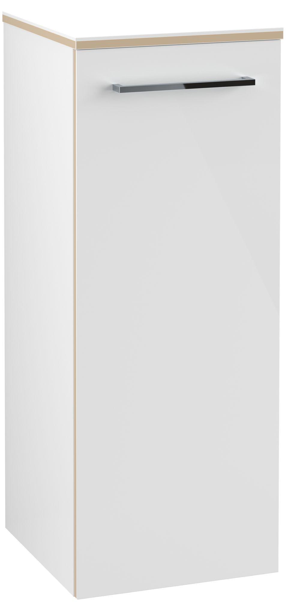 Villeroy & Boch Avento Seitenschrank Türanschlag rechts B:35 x H:89,2 x T:37 cm crystal white A89501B4