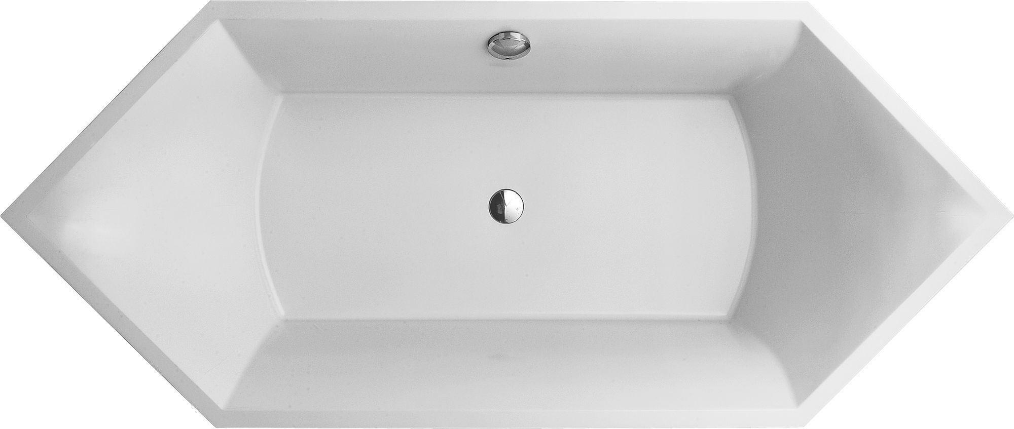 Villeroy & Boch Squaro Badewanne Rechteck UBQ190SQR6V-01 H: 500 B: 800 L: 1900 weiß