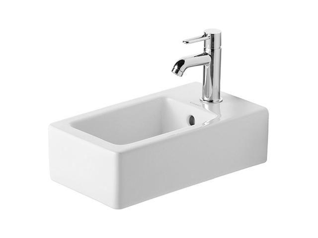 Duravit Vero Handwaschbecken B:25xT:45cm 1 Hahnloch mittig mit Überlauf weiß mit Wondergliss 07022500001
