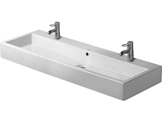 Duravit Vero Waschtisch B:120xT:47cm 2x1 Hahnloch mit Überlauf weiß 0454120024