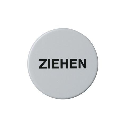 HEWI Symbol ZIEHEN D=52mm selbstklebend Felsgrau 711Z 95
