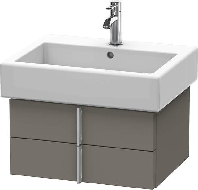 Duravit Vero Waschtischunterschrank wandhängend für 045460 B:55xH:29,8xT:43,1cm 2 Schubkästen flannel grey seidenmatt VE620409090