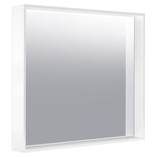 Keuco X-LINE Kristallspiegel unbeleuchtet B:80xH:70xT:10,5 cm trüffel seidenmatt 33295142500