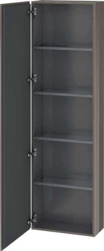 Duravit L-Cube Hochschrank B:50xH:176xT:24,3cm 1 Tür Türanschlag links flannel grey hochglanz LC1171L8989