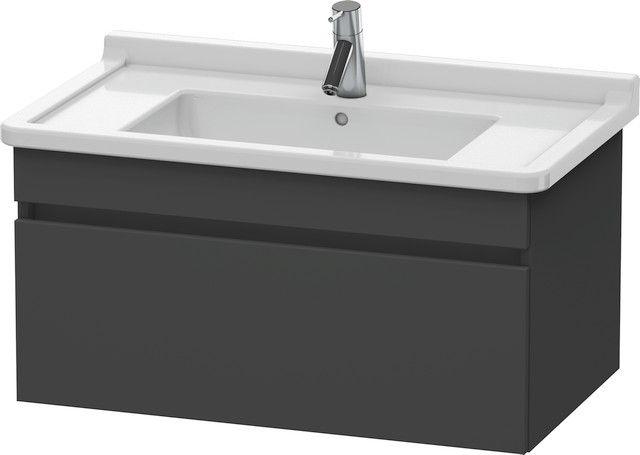 Duravit DuraStyle Waschtischunterschrank wandhängend B:80xH:40,6xT:47 cm mit 1 Auszug graphit matt DS638804949