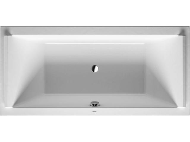 Duravit Starck Rechteck-Badewanne B:100xL:200cm Einbauversion mit 2 Rückenschrägen weiß 700341000000000