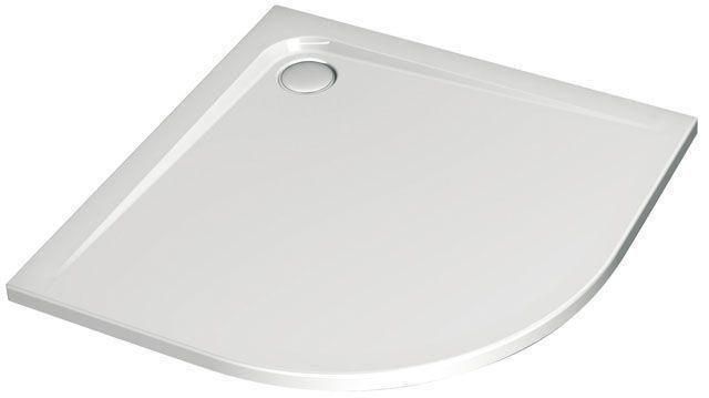 Ideal Standard Viertelkreis-Duschwanne Ultra Flat weiß H:130 B:1000 L: 1000 bodeneben K162301 - MAIN