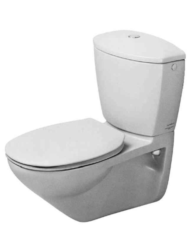 Duravit Duraplus Tiefspül-Wand-WC für Aufsatzspülkasten L:65xB:36,5cm weiß 0195090000