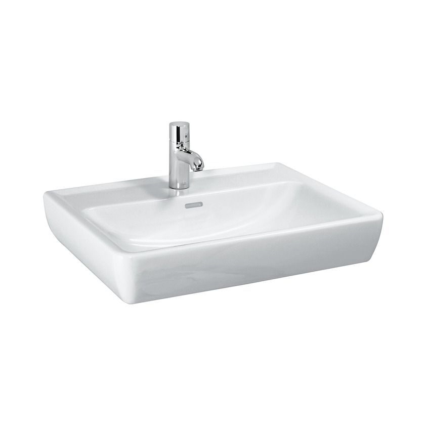 Laufen Pro Waschtisch B:65xT:48cm 1 Hahnloch mittig mit Überlauf weiß mit CleanCoat LCC H8189534001041