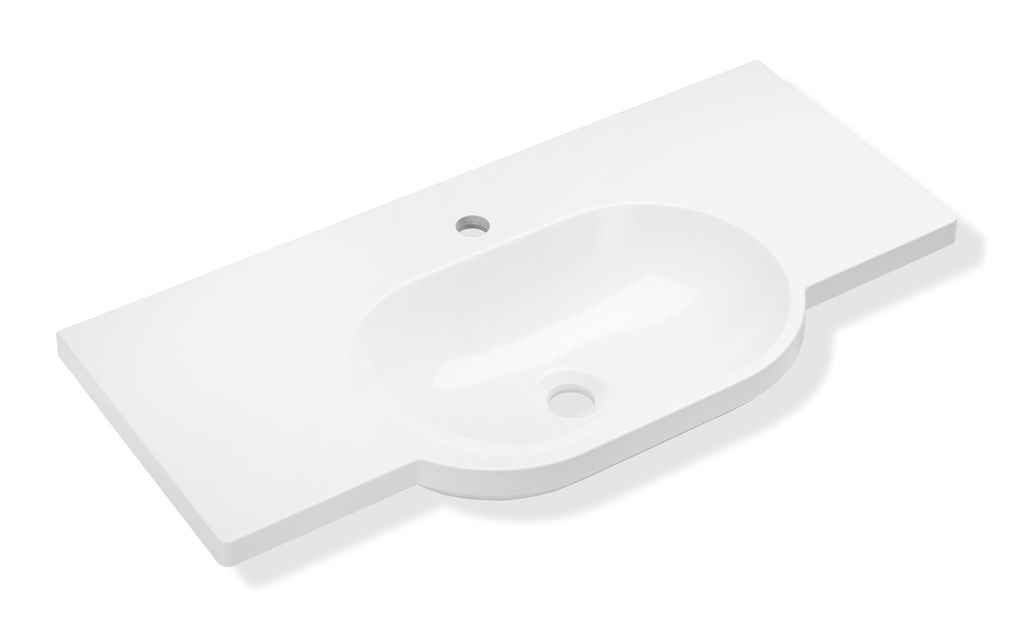 Hewi Waschtisch B:85xT:41,5cm unterfahrbar mit Ablagefläche ohne Überlauf weiß 950.11.221