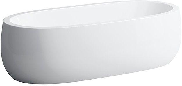 Laufen ILBAGNOALESSI ONE Badewanne freistehend L:183xB:87xH:53cm ohne Unterwasserbeleuchtung weiß H2459720000001