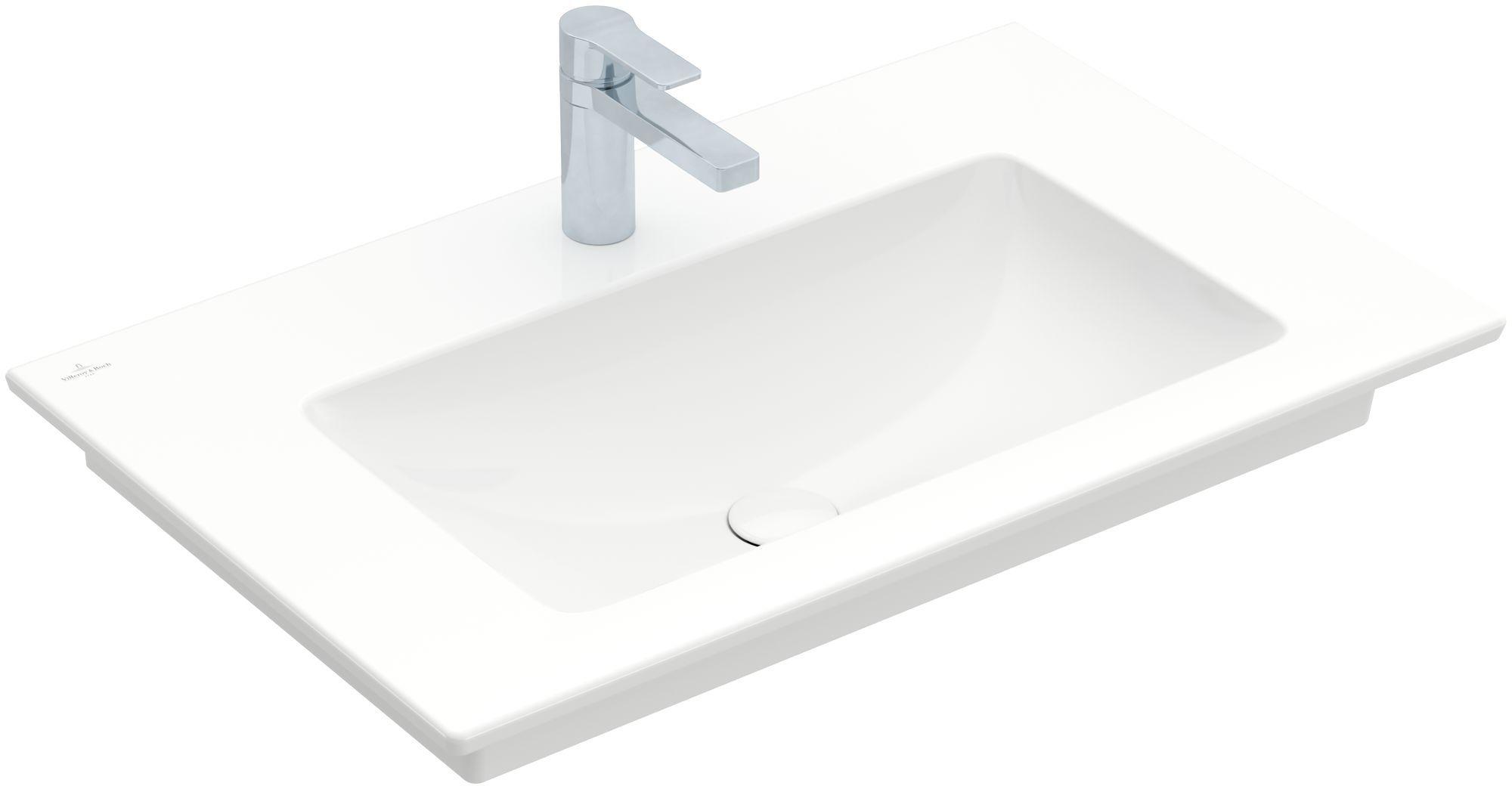 Villeroy & Boch Venticello Möbelwaschtisch B:80xT:50cm 1 Hahnloch ohne Überlauf weiß 41048G01