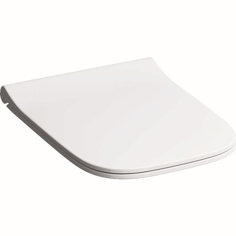 Geberit Smyle Square WC-Sitz schmales Design Sandwichform mit Absenkautomatik mit QuickRelease weiß 500688011