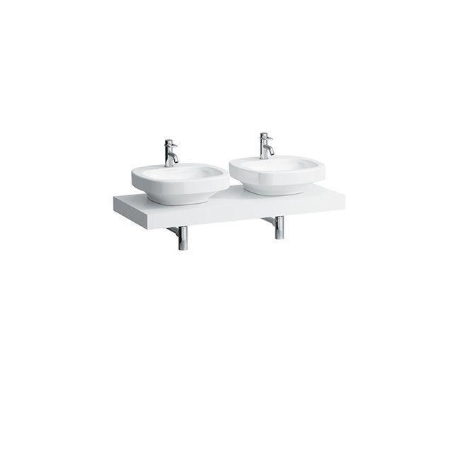 Laufen Case Waschtischplatte Ausschnitt links und rechts B:119xT:52cm weiß H4051440754631