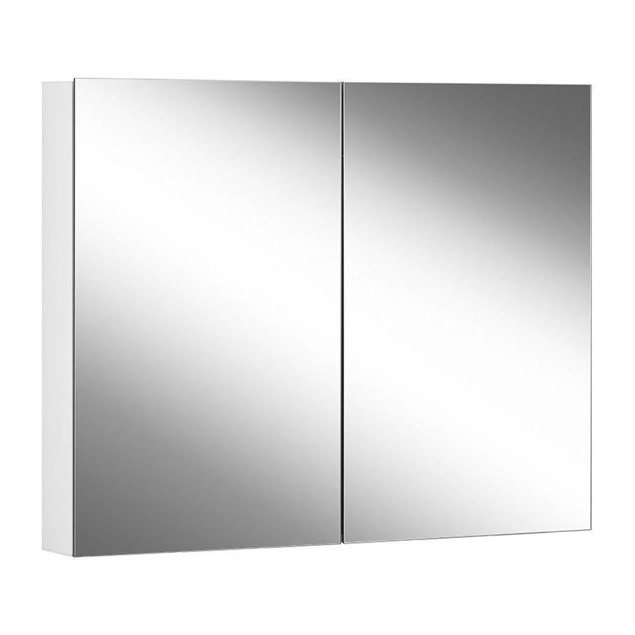 Schneider Spiegelschrank ADVANCED Line Comfort 90/2/TW B:90xH:70xT:12cm mit Beleuchtung mit Kosmetikspiegel weiß 179.090.02.02
