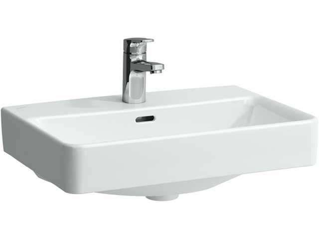 Laufen Pro S Waschtisch B:60xT:38cm 1 Hahnloch mittig mit Überlauf weiß mit CleanCoat LCC H8179594001041
