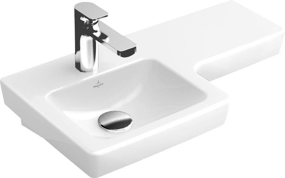 Villeroy & Boch Subway 2.0 Handwaschbecken Becken links B:63xT:35,5cm 1 Hahnloch ohne Überlauf weiß 41156L01
