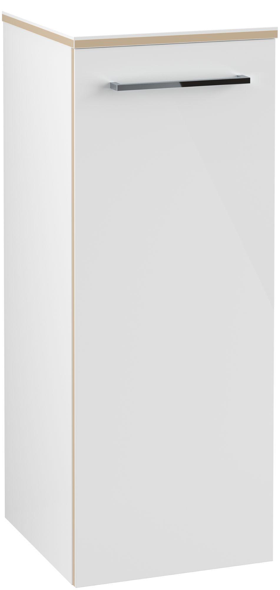 Villeroy & Boch Avento Seitenschrank Türanschlag links B:35 x H:89,2 x T:37 cm crystal white A89500B4