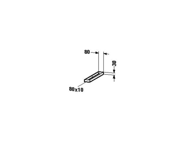 Duravit Handtuchhalter Universal 548x80x30mm für Konsole UV996000000