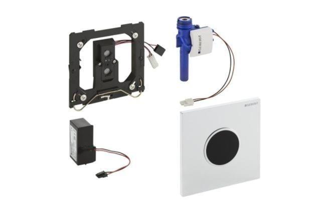 Geberit HyTronic Urinalsteuerung Sigma10 schwarz-verchromt 116025KM1