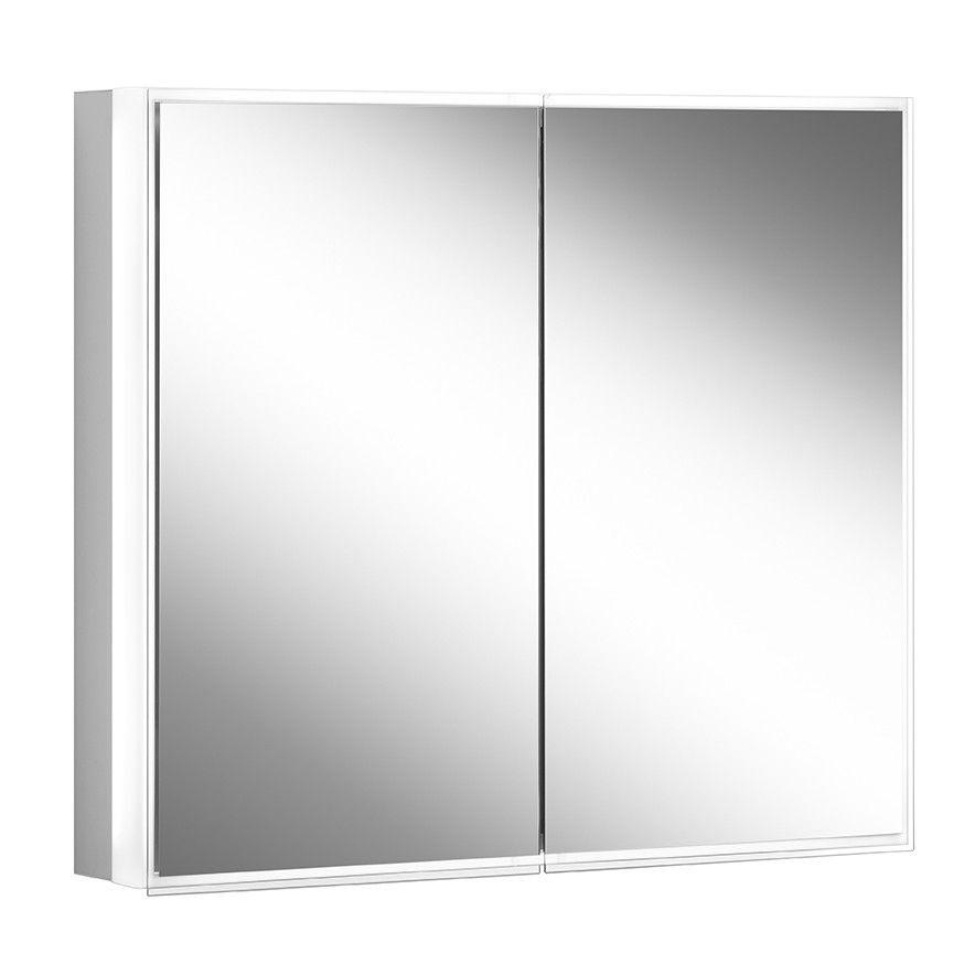 Schneider Spiegelschrank PREMIUM Line Superior 70/2/TW B:72,5xH:73,6xT:16,7cm mit Beleuchtung mit Kosmetikspiegel eloxiert 181.070.02.50