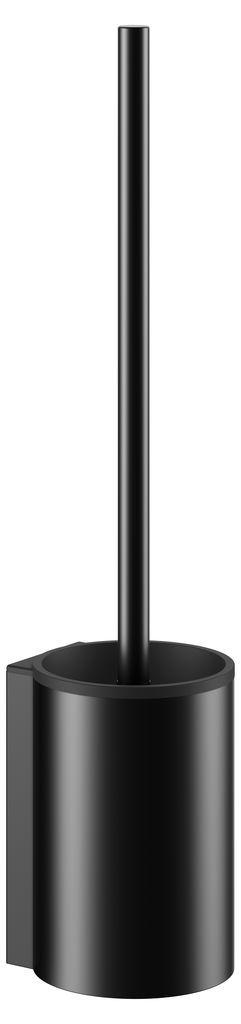 KEUCO Plan Toilettenbürstengarnitur B:9,5xH:41,8cm mit Kunststoff-Einsatz schwarz 14972370200