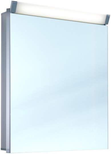 Schneider Paliline LED Spiegelschrank B:60xH:76xT:12cm 1 Tür Anschlag wählbar Alu eloxiert 159.060.02.50