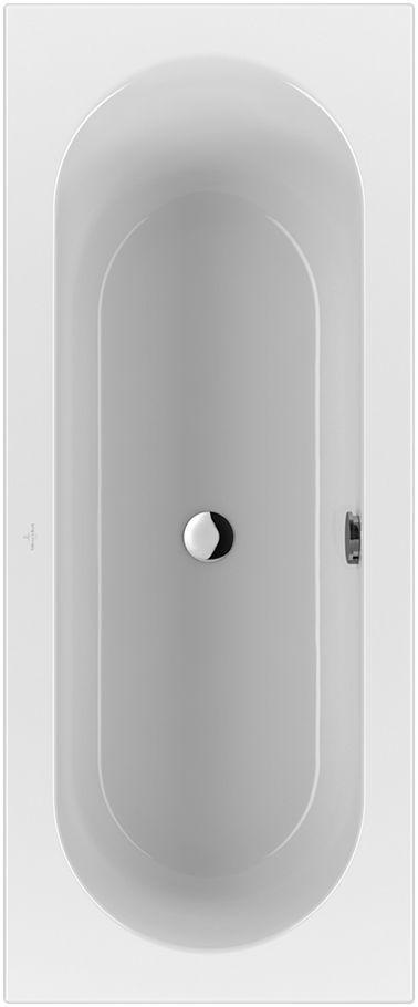 Villeroy & Boch Loop & Friends Solo Rechteck-Badewanne UBA177LFO2V-01 700x1700mm weiß mit ovaler Innenform