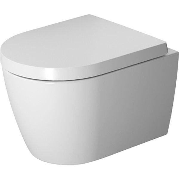 Duravit ME by Starck Tiefspül-Wand-WC Compact rimless ohne Spülrand L:48cm weiß mit HygieneGlaze 2530092000