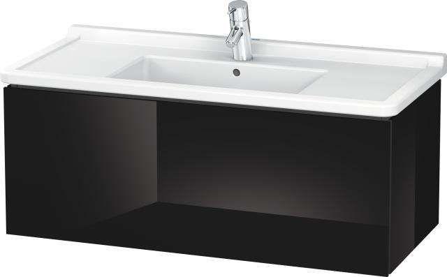 Duravit L-Cube Waschtischunterschrank wandhängend B:102xH:40,8xT:46,9 cm 1 Auszug schwarz hochglanz LC616604040