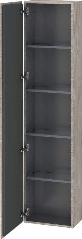 Duravit L-Cube Hochschrank B:40xH:176xT:24,3cm 1 Tür Türanschlag links pine silver LC1170L3131