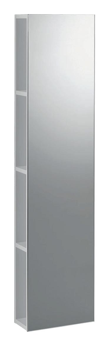 Geberit Keramag iCon Regal mit Spiegel B:28xT:14xH:120cm alpin hochglanz 840028000