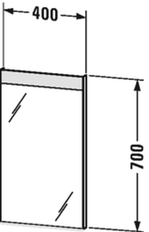 Duravit Licht&Spiegel mit Beleuchtung oben mit Sensorschalter B:60xH:70xT:3,5 cm LM784500000