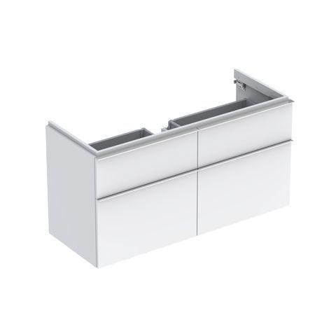 Geberit Keramag iCon Waschtischunterschrank mit 2 Auszügen und 2 Schubladen B:1190xT:477xH:620mm alpin hochglanz 840420000