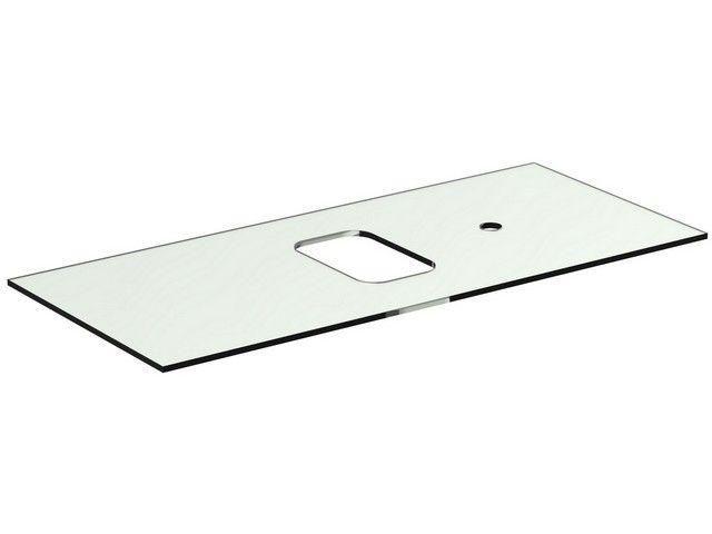 Ideal Standard TONIC II Glaskonsole für Schale asymmetrisch 1006x444x10mm weiß R4336SA