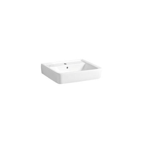 Geberit Keramag Renova Plan Waschtisch B:55xT:44cm 1 Hahnloch mit Überlauf weiß mit KeraTect 222255600