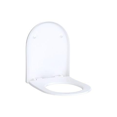 Geberit Keramag Acanto WC-Sitz Slim Wrap over antibakteriell Scharniere verchromt mit Absenkautomatik soft-close 500660012