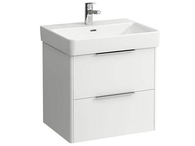 Laufen Base für Pro S Waschtischunterschrank B:57cmxH:53cmxT:44cm mit 2 Schubladen Weiß glänzend H4022321102611