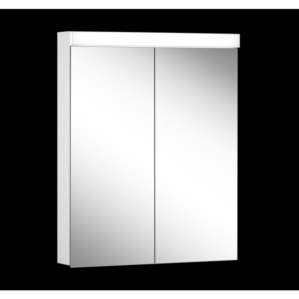Schneider Spiegelschrank LOWLINE Plus 60/2/LED/L B:60xH:74,8xT:12cm mit Beleuchtung weiß 172.063.02.0201
