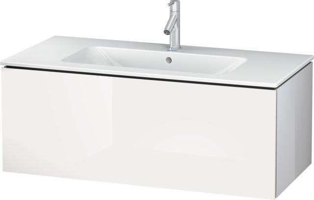 Duravit L-Cube Waschtischunterschrank wandhängend für 233610 B:102xH:40xT:48,1cm 1 Auszug weiß hochglanz lack LC614208585