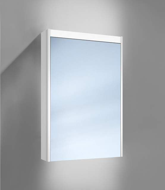 Schneider O-Line LED Spiegelschrank B:50xH:74,5xT:15,8cm 1 Tür Anschlag links weiß 165.251.02.02