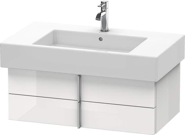 Duravit Vero Waschtischunterschrank wandhängend für 032985 B:80xH:29,8xT:44,6cm 2 Schubkästen weiß hochglanz lack VE621308585