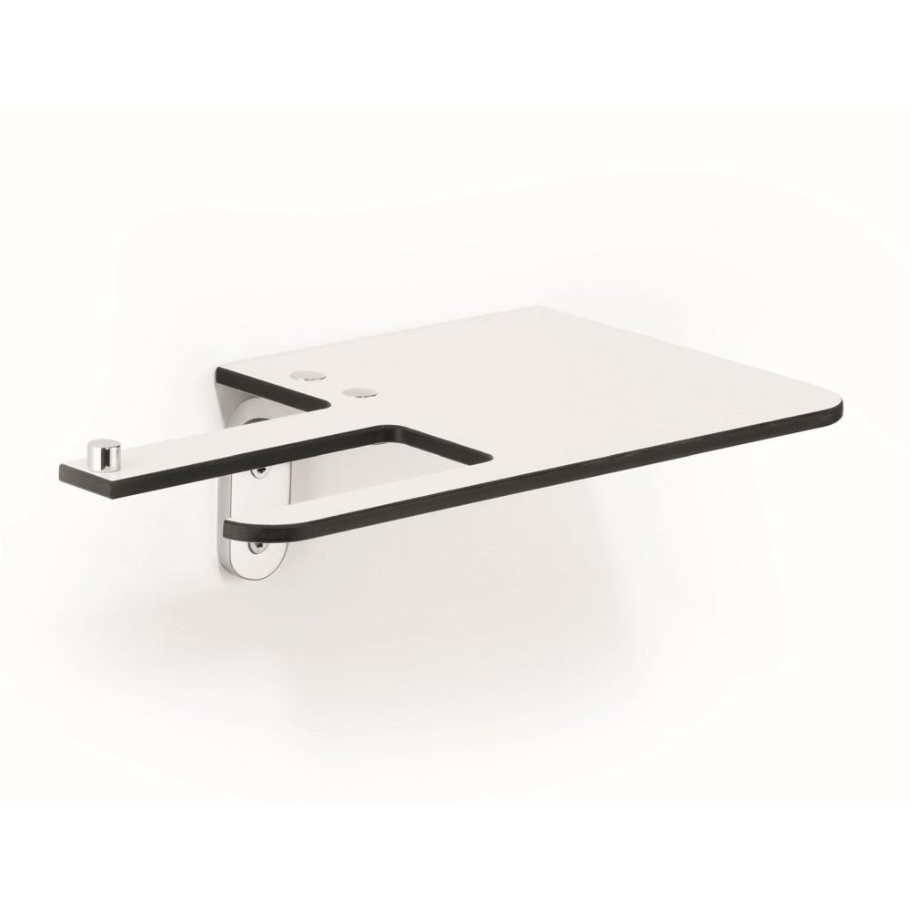 GIESE Papierhalter mit Ablagefläche 250x80x150mm, Version links, weiß/chrom 30970-02